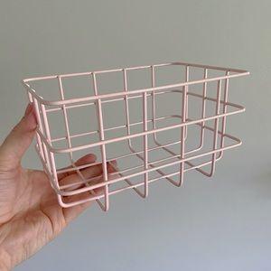 Vintage Mod Pink Coated Wire Basket